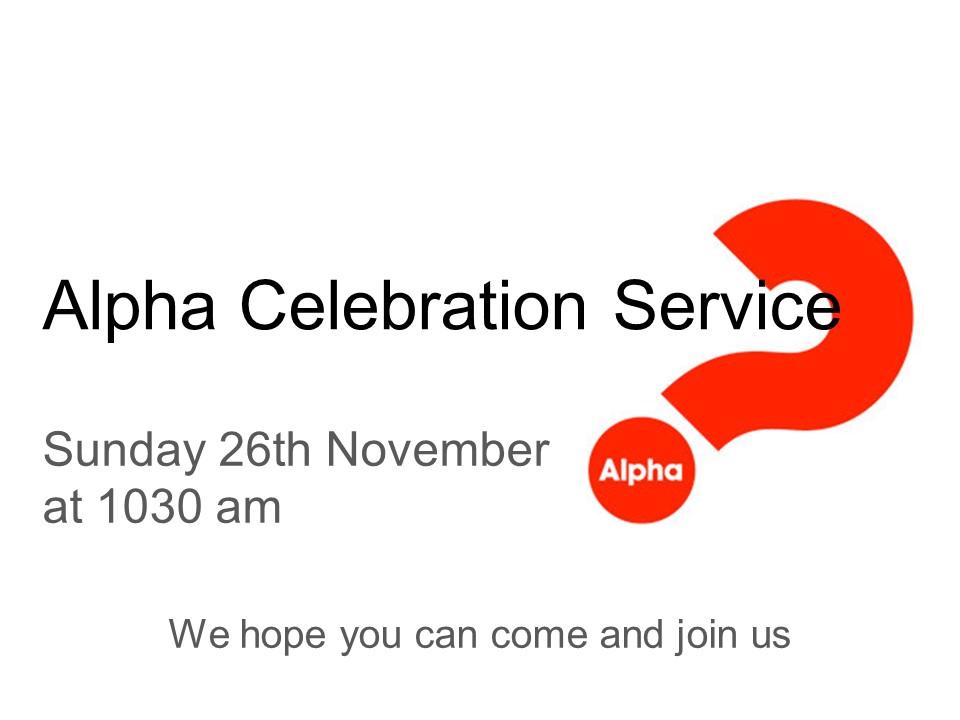 Alpha-celebration-service